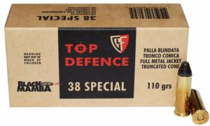Munitions Fiocchi 38 SP Black Mamba 110 gr fmj