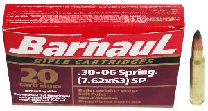 Munitions BARNAUL 30-06 Spring - 140 gr