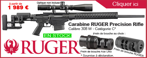 CARABINE RUGER PRECISION RIFLE - 308 W - CATEGORIE C