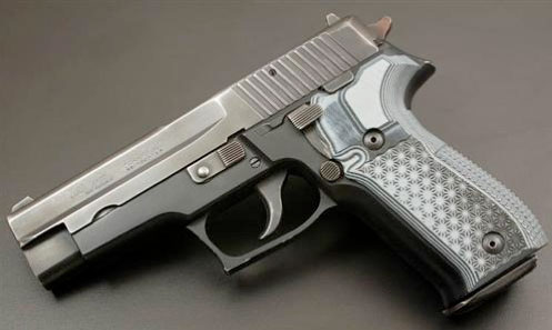 Plaquettes VZ Black Gray G10 pour pistolet Sig Kraken P226 - Cliquer pour agrandir