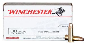 Munitions Winchester Pistolet 38 Special FMJ
