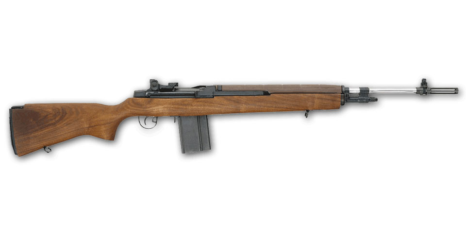 Springfield Armory M1A SUPER MATCH Bois et canon Inox - Cliquer pour agrandir