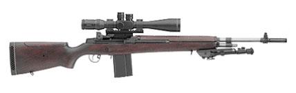 Springfield Armory M21 TACTICAL Bois et canon Inox - Cliquer pour agrandir