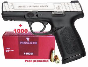 Pistolet Smith & Wesson SD9 VE + 1 000 cartouches Fiocchi  - PROMO