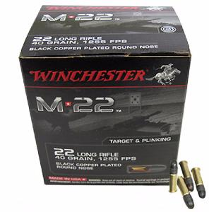 Munitions Winchester 22 LR M 22