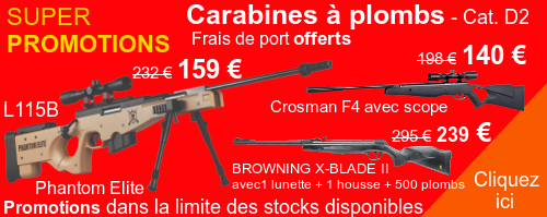 CARABINES A PLOMBS - PROMOTION